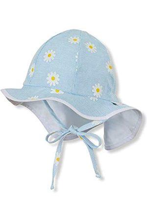 Sterntaler Flapper für Mädchen mit Bindebändern, Nackenschutz und Blumen-Motiv, Alter: 5-6 Monate, Größe: 43