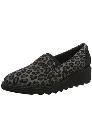 Clarks Damen Slipper, Mehrfarbig(Leopard PRT Comb)