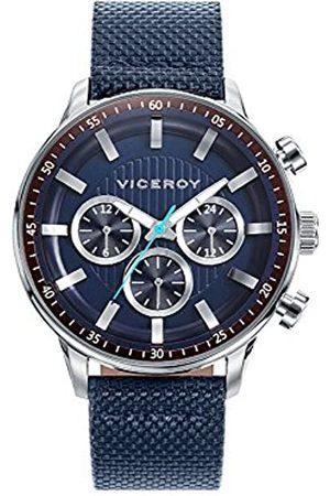 Viceroy Viceroy Herren Multi Zifferblatt Quarz Uhr mit Leder Armband 42305-37