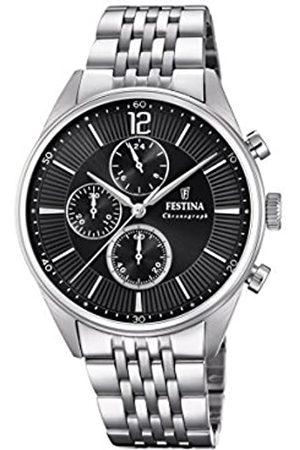 Festina Festina Herren Chronograph Quarz Uhr mit Edelstahl Armband F20285/4