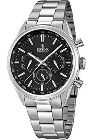 Festina Festina Herren Chronograph Quarz Uhr mit Edelstahl Armband F16820/4