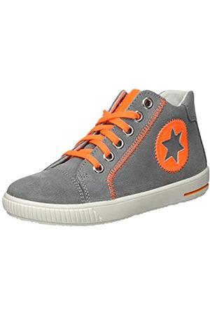 Superfit Superfit Baby Jungen Moppy Sneaker, Grau (Hellgrau/Orange 25)