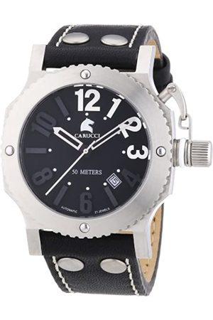 Carucci Carucci Watches Herren-Armbanduhr XL Analog Automatik Leder CA2210BK