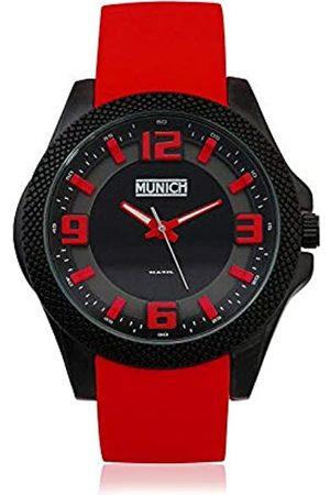 Munich Munich Unisex Erwachsene Analog Quarz Uhr mit Gummi Armband MU+125.4A