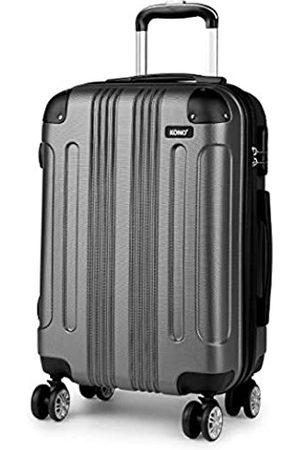 Kono Kono Hartschalen-Koffer Trolley Leichtgewicht ABS Rollkoffer Reisekoffer mit Zahlenschloss und 4 Rollen (Grau