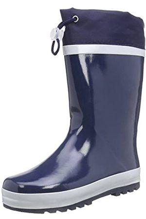 Playshoes Playshoes Kinder Gummistiefel aus Naturkautschuk, warme Unisex Regenstiefel mit Innenfutter, Blau (marine 11)