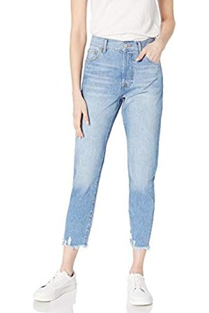 The Drop The Drop Audrey Damen Jeans, Schmale Passform, Hohe Taille, Geknöpfter Hosenschlitz Wash