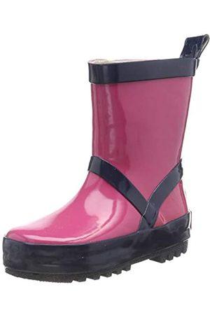 Playshoes Playshoes Unisex-Kinder Uni Naturkautschuk Gummistiefel, Pink (Pink/Marine 644)