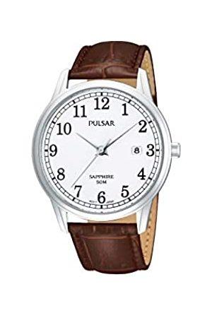 Pulsar Pulsar Uhren Herren-Armbanduhr XL Klassik Analog Quarz Leder PS9055X1