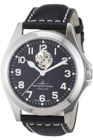 Zeno Zeno Watch Basel Herren-Armbanduhr XL Ghandi Analog Automatik Leder 8112U-a1