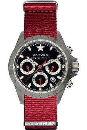 Oxygen OXYGEN unisex-Armbanduhr SPRINT 42 Chronograph Quarz Nylon EX-C-SPR-42-NN-RE