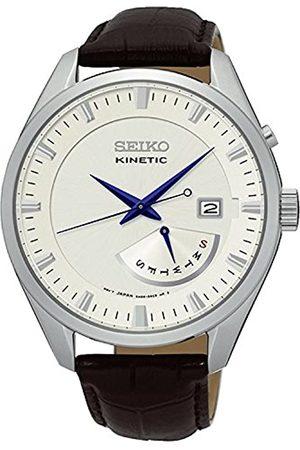 Seiko Seiko Herrenuhr Analog Quarz mit Lederarmband – SRN071P1