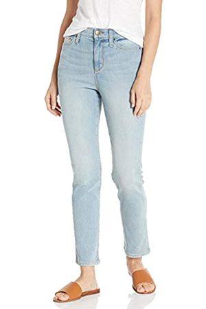 Daily Ritual Daily Ritual High-Rise Slim Straight Jeans 32