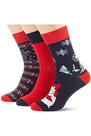 Urban classics Herren Christmas Weihnachts-Strümpfe Set Icebear 3Er Pack Socken