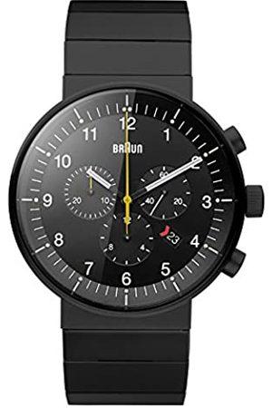 von Braun Braun Herren Analog Quarz Uhr mit Edelstahl Armband BN0095BKBKBTG
