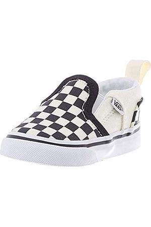 Vans Vans Unisex Baby Asher V Sneaker, Weiß (Checkers/Black/Natural)