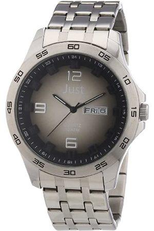 Just Watches Just Watches Herren-Armbanduhr XL Analog Edelstahl 48-S3455-Bk-BK