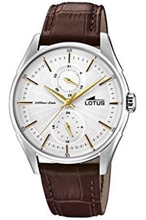 Lotus Lotus Watches Herren Multi Zifferblatt Quarz Uhr mit Leder Armband 18523/1
