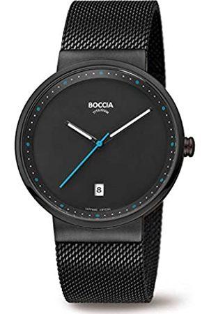 Boccia Boccia Herren Analog Quarz Uhr mit Edelstahl Armband 3615-02