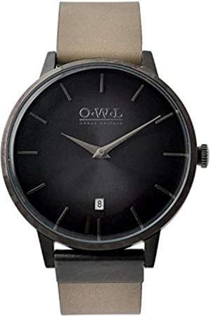 O.W.L O.W.L Herren Analog Japanisch Quarz Uhr mit Edelstahl Armband W6SBS
