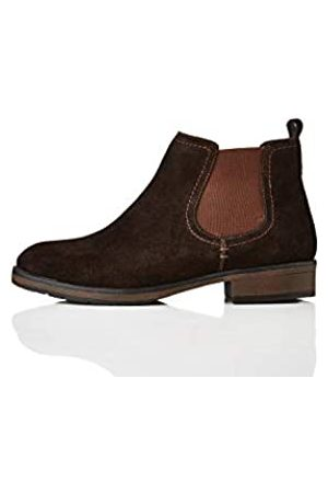 FIND Find. Casual Suede Chelsea Boots, Braun Chocolate)