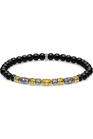 Thomas Sabo Thomas Sabo Unisex-Armband Talisman bicolor schwarz 925 Sterlingsilber gelbgold vergoldet A1922-966-11-L19