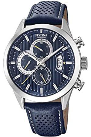 Festina Festina Herren Chronograph Quarz Uhr mit Leder Armband F20271/5