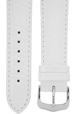 Cerberus Uhrenarmband 18 mm Leder weiß, Kroko-Optik, Länge 75x115mm