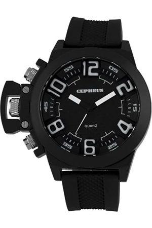 CEPHEUS CEPHEUS Herren-Armbanduhr XL Analog Quarz Silikon CP901-622A