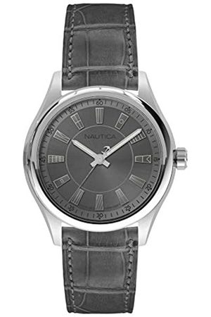 Nautica Nautica Herren Analog Quarz Uhr mit Leder Armband NAPBST001