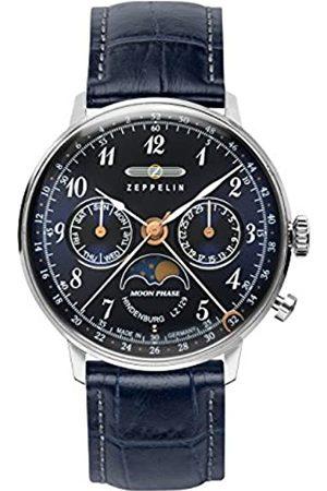 Zeppelin Zeppelin Unisex Chronograph Quarz Uhr mit Leder Armband 7037-3