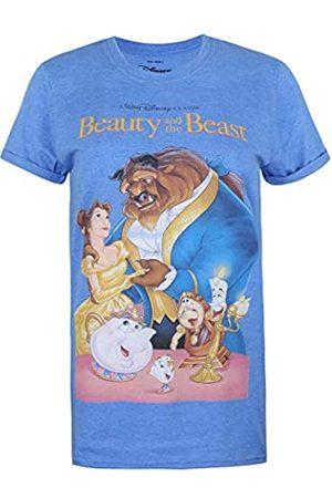 Disney Damen Shirts - Damen Beauty & The Beast VHS T-Shirt