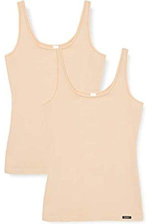 Skiny Damen Advantage Cotton Tank Top 2er Pack Unterhemd, Elfenbein (Skin 9622)