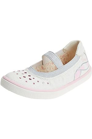 Geox Geox Mädchen J Kilwi Girl K Geschlossene Ballerinas, Weiß (White/Lt Pink)