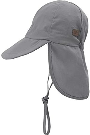 Melton Melton Jungen Sommerhut mit Schirm und Nackenschutz UV 30+, Uni Kappe