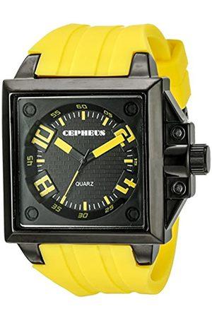 CEPHEUS CEPHEUS Herren-Armbanduhr Analog Quarz Silikon CP904-629B
