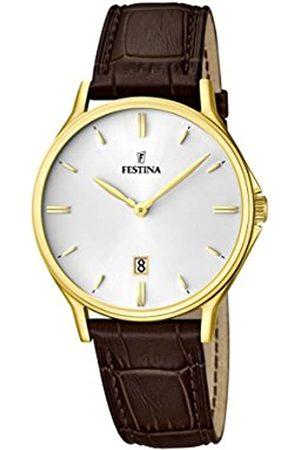 Festina Festina Herren Analog Quarz Uhr mit Leder Armband F16747/1