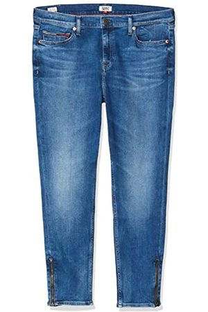Tommy Hilfiger Tommy Jeans Damen Nora Mid Rise Skny Ankl Zip Mnm Straight Jeans