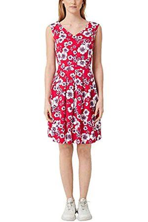 s.Oliver S.Oliver RED LABEL Damen Print-Kleid aus Baumwollsatin red AOP 42