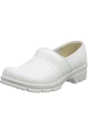 Sanita Sanita Workwear Unisex-Erwachsene San-Duty Closed-O2 Clogs, Weiß (White 1)
