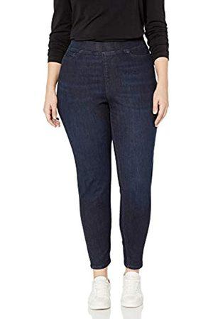 Amazon Damen jeans Plus Size Pull-on Skinny Jegging Jeans, (Dark Wash
