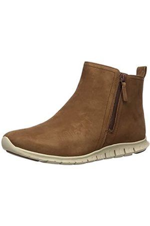 Cole Haan Damen Zerogrand Side Zip Bootie Waterproof Chukka Boots, (Bison Nubuck/Ivory Bison Nubuck/Ivory)