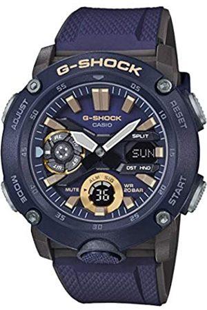 Casio CASIO Herren Analog – Digital Quarz Uhr mit Resin Armband GA-2000-2AER