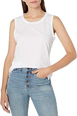 Goodthreads Damen Shirts - Washed Jersey Cotton Crewneck Muscle fashion-t-shirts, White