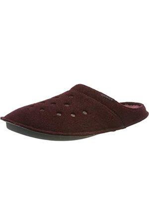 Crocs Classic Slipper, Unisex-Erwachsene Niedrig, Classic Slipper-Burgundy/Burgundy