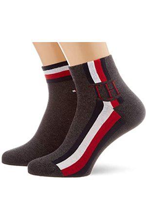 Tommy Hilfiger Herren TH Men Quarter 2P Iconic Stripe Socken