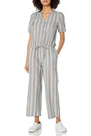 Goodthreads Damen Jumpsuits - Washed Linen Blend Button Front Jumpsuits-Apparel