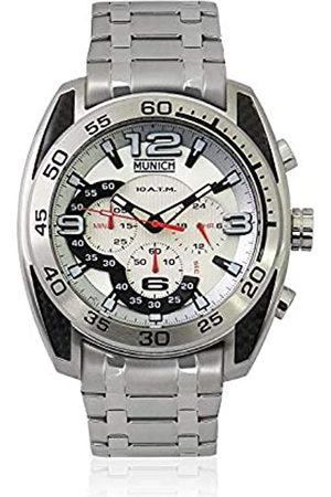Munich Munich Unisex Erwachsene Analog Quarz Uhr mit Edelstahl Armband MU+135.1B