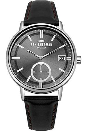 Ben Sherman BenShermanHerrenDatumklassischQuarzUhrmitLederArmbandWB071BB