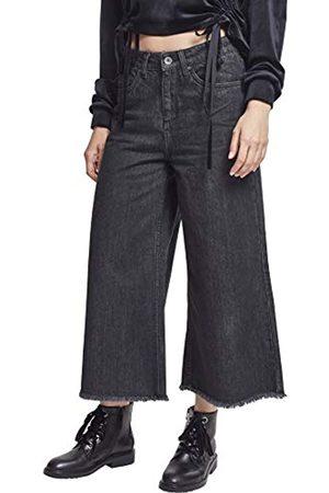 Urban classics Damen Ladies Denim Culotte Hose